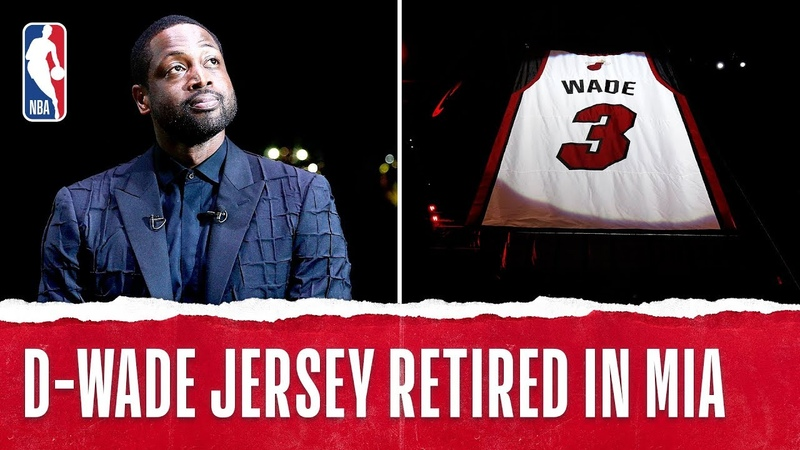 Dwyane Wade No 3 Jersey Retirement in Miami