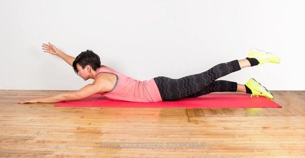 1 упражнение от Жировых валиков на спине.
