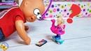 КАК КАТЯ УМЕНЬШИЛАСЬ Катя и Макс веселая семейка. Мультики с куклами Барби Поли покет