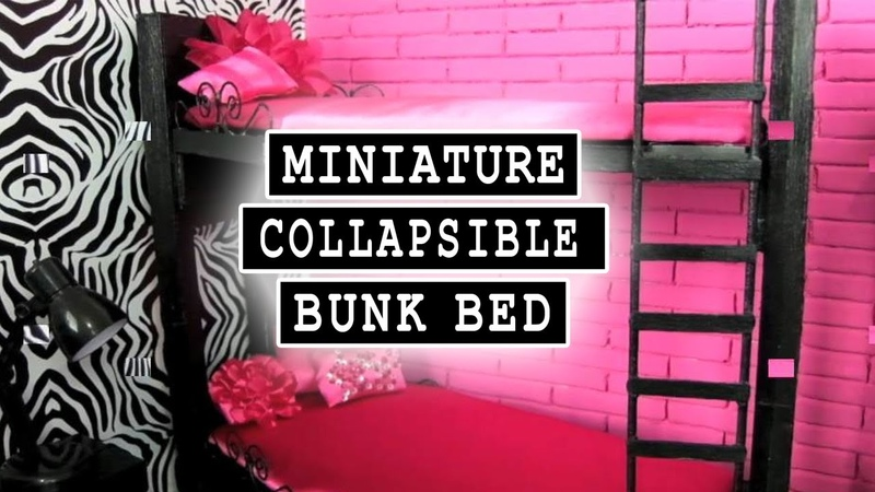 How to Make a Collapsible Miniature Bunk Bed