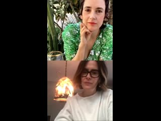 Sarah Paulson talking about her and Adele