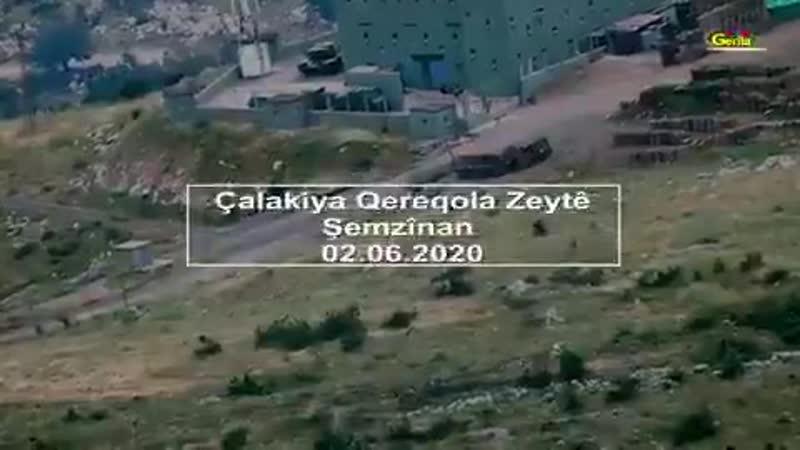 Бойцы РПК заПТУРили турецкий танк в провинции Хаккари