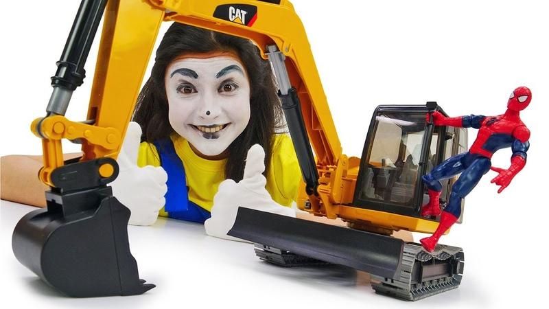Video per bambini con le macchine. La betoniera giocattolo al lavoro! Giocattoli educativi
