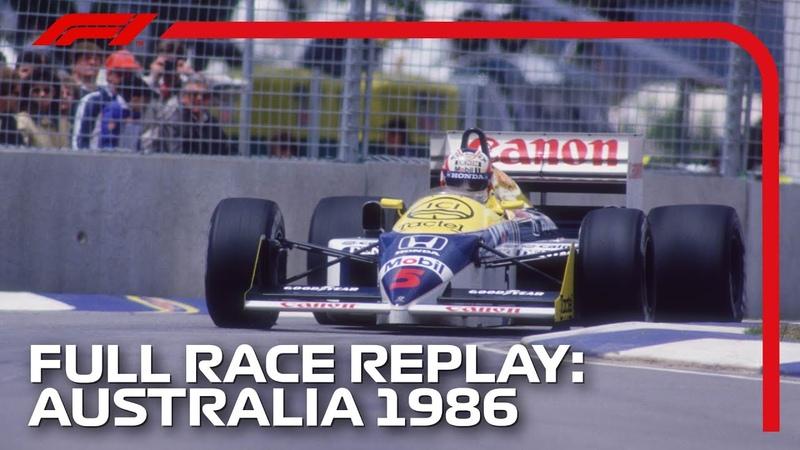 F1 REWIND 1986 Australian Grand Prix Full Race Replay