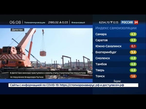 В Дагестане военные строители приступили к новому этапу возведения медицинских центров