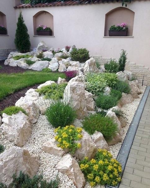 Вам нравится использование камней в ландшафтном дизайне (источник: gofazenda)