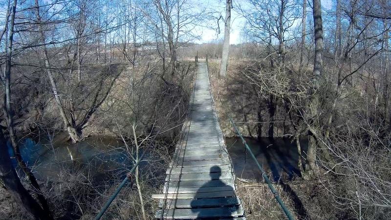 Подвесной мост между д Лисенки и д Курдюково