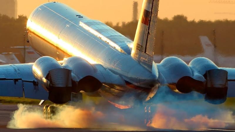 ИЛ 62 Реверс в воздухе Reverse before landing
