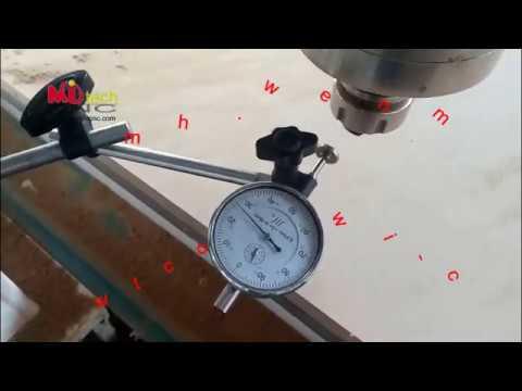 Mitech cnc router machine accuracy test video