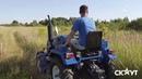 Работа косилки FRM 80 на мини тракторе СКАУТ