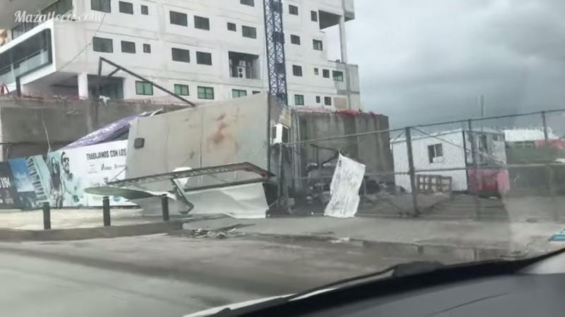 Tormenta Narda en Mazatlán Sinaloa