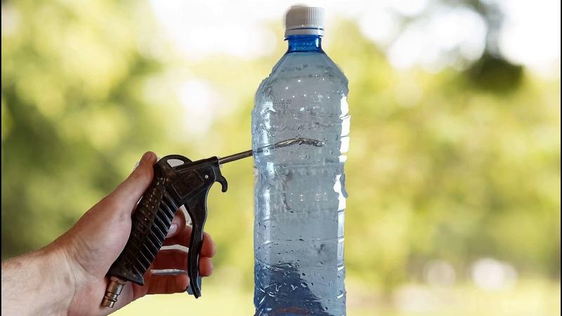 Пескоструй за пару минут из бутылки