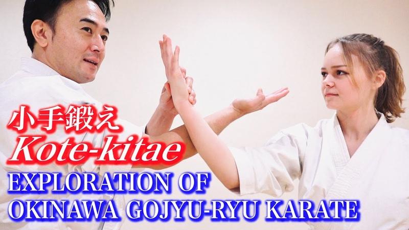 沖縄空手の小手鍛えをやってみた! Kote Kitae Exploration of Okinawa Gojyu ryu Karate English program