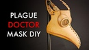Plague Doctor Mask DIY - Tutorial and pattern download - Fits on Top of Glasses