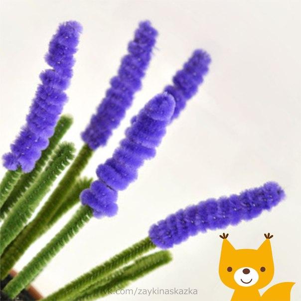 ГИАЦИНТЫ ИЗ ПУШИСТОЙ ПРОВОЛОКИ Понадобятся:Синельная (пушистая) проволокаГоршочекПластилин для наполнения