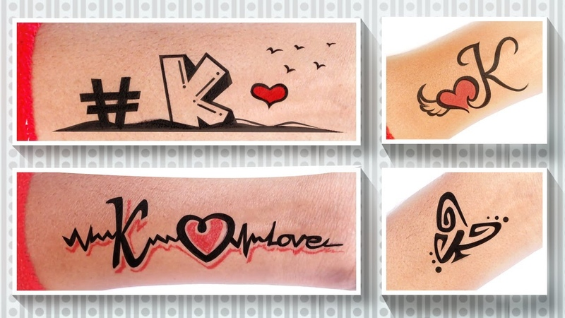 Site Scene K ❤ How to make tattoo K Letters ❤ A to Z Letters tattoo ❤ new tattoos