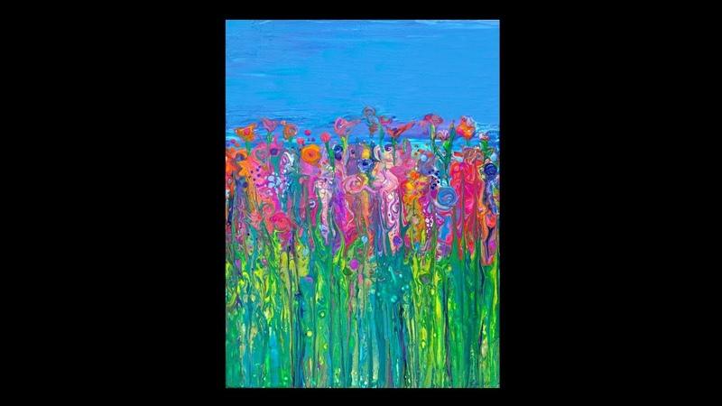 Fluid Acrylics Flower Garden 2565-4.20.18