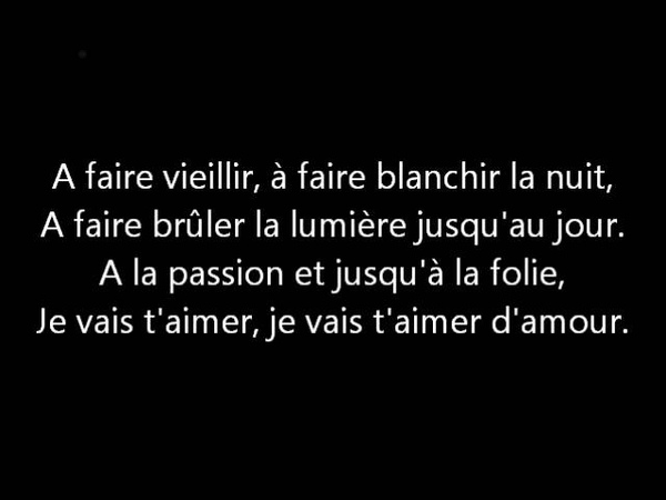 Michel Sardou Je vais t'aimer Paroles Lyrics