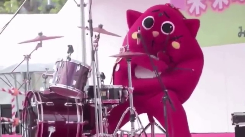 When a Costumed Person Destroys The Drums At Children's Music Concert NyangoStar