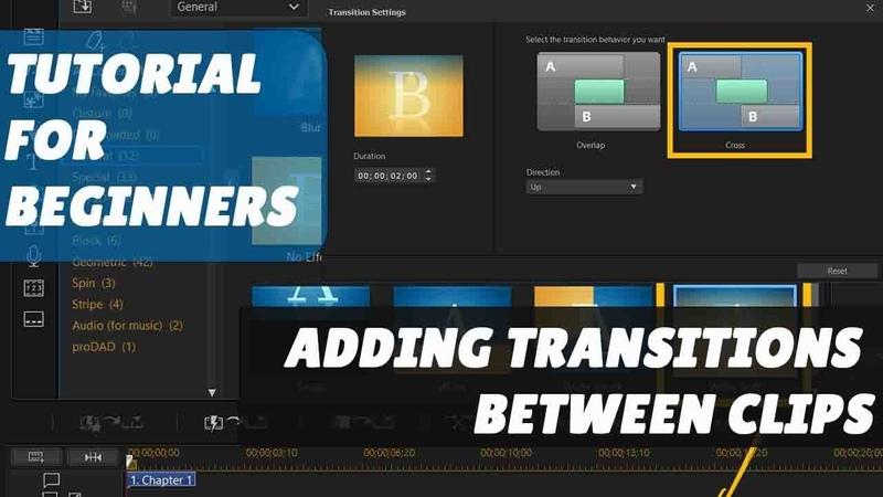 CyberLink PowerDirector 18 - Tutorial for Beginners | Adding Transitions Between Clips