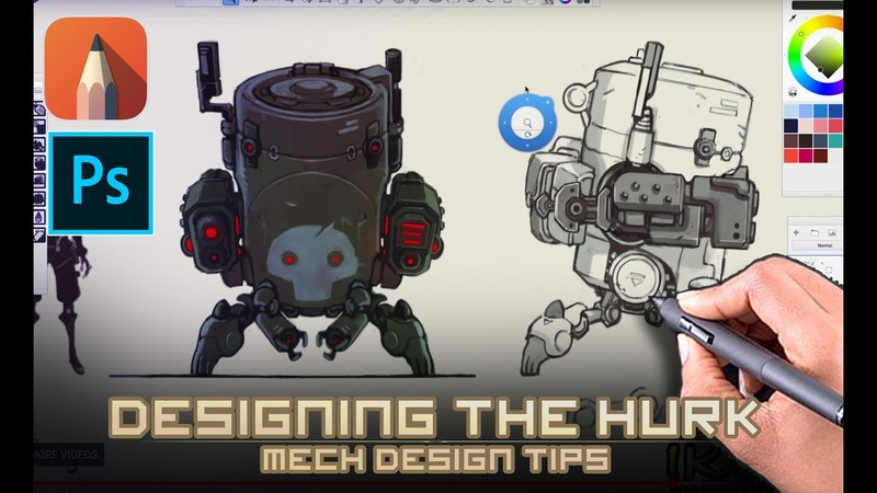 Mech Design Tips for Concept artists - Which thumbnail do I take to final?