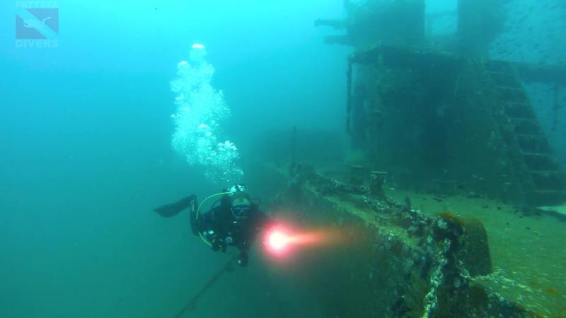 Затопленный в заповеднике Чумпхон сторожевой корабль «Праб» | Prab Wreck Diving in Chumphon