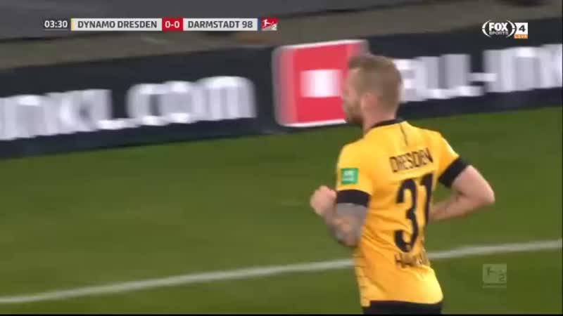 Чемпионат Германии 2019 20 2 ая Бундеслига 21 й тур Динамо Дрезден Дармштадт