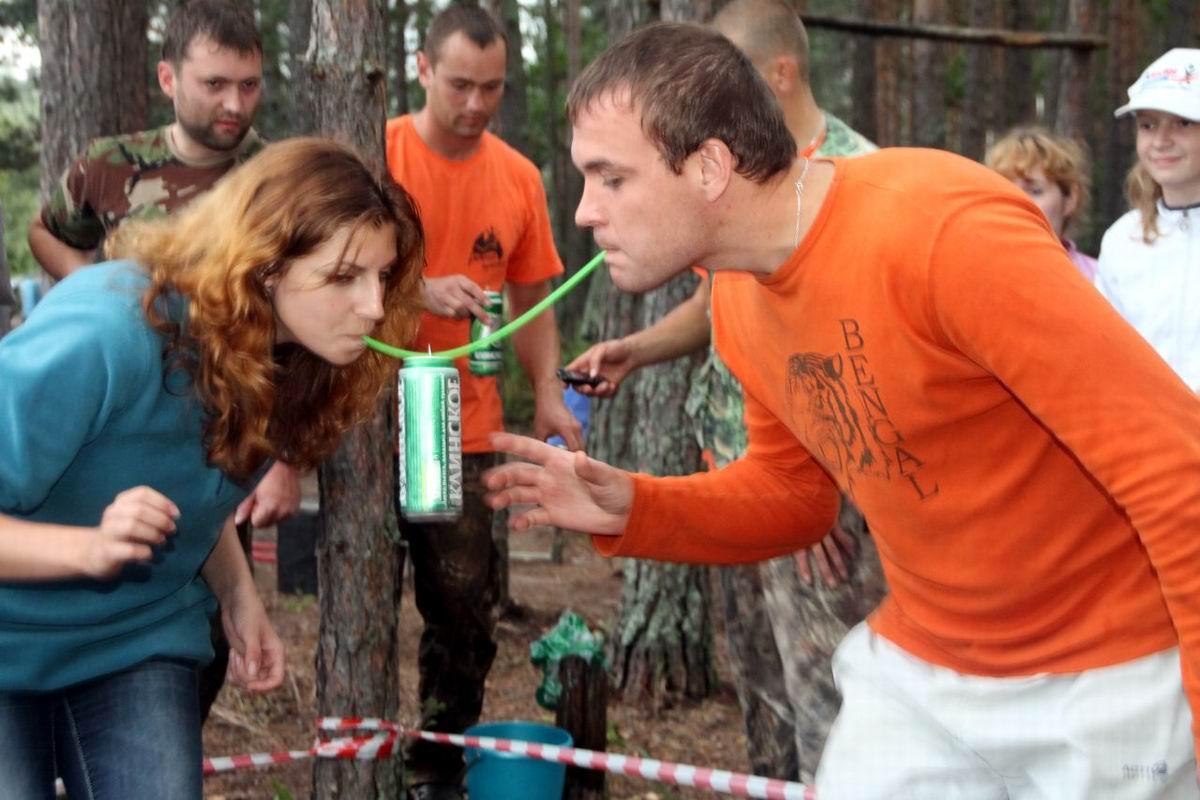 Ну что, ударим по пивку?!: Загородные соревнования в парном разряде