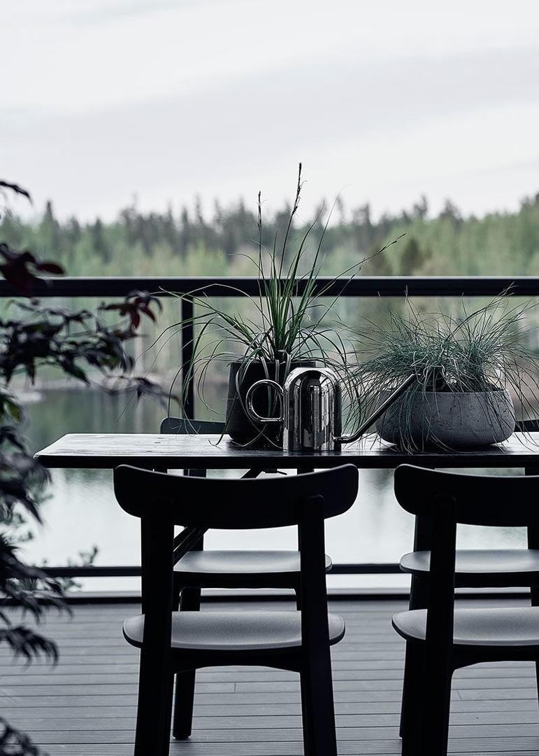 Прекрасный современный коттедж в лесу у озера в Финляндии    01