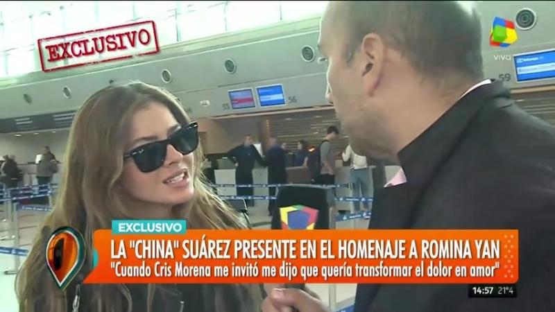 """La _""""China_"""" Suárez y Benjamín Vicuña hablaron antes de viajar a España"""