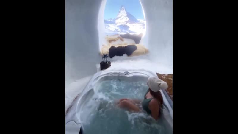 Приятный вид на вершину Маттерхорн в Швейцарии 💦😍