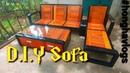 Sofa sắt hộp tự chế, hoàn thành 100 cả bàn và ghế