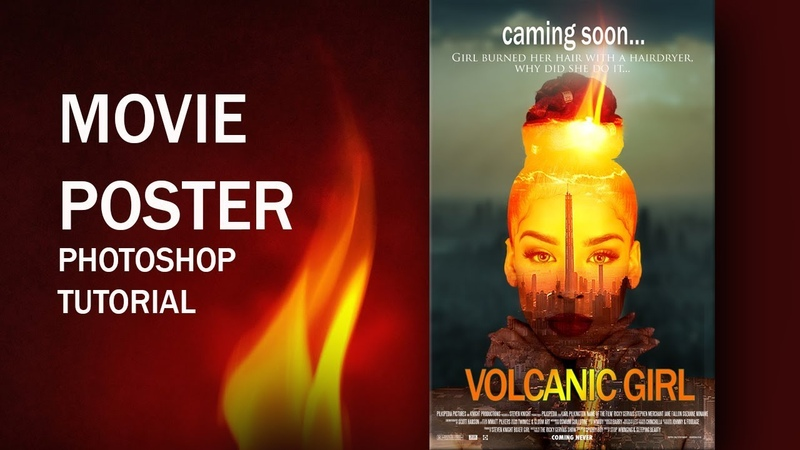 Постер к фильму в Фотошоп Эффект двойной экспозиции