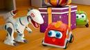 Машинки Мокас и динозавр - подарок Новый ГОД - Развивающие мультики про машинки
