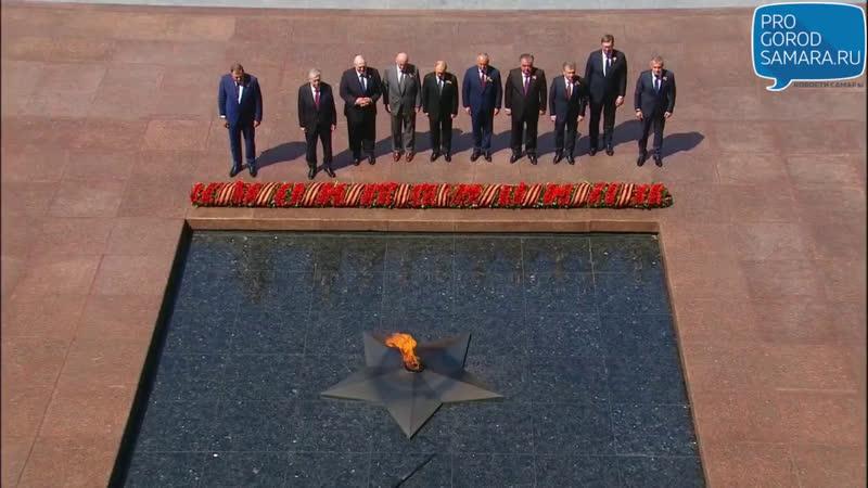 Лидеры государств возлагают цветы к Могиле Неизвестного Солдата в Александровском саду