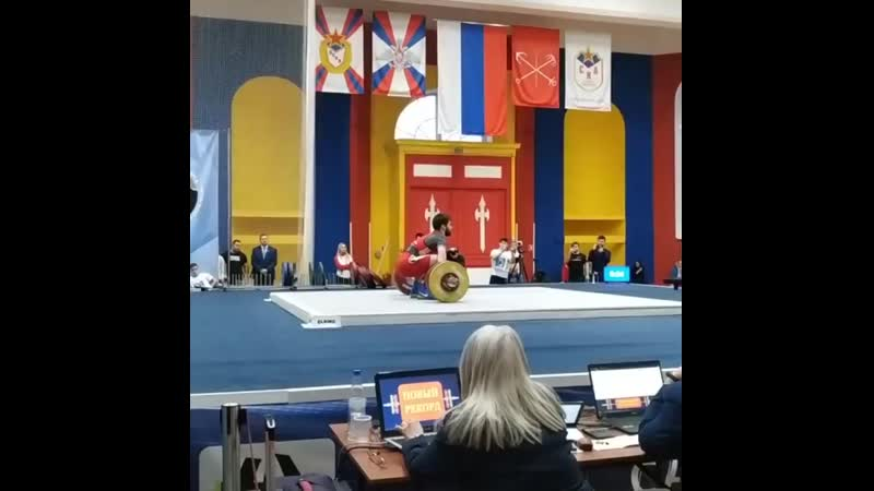 Russian record in snatch 160kg on 77bw