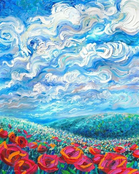Друзья, хочу познакомить вас с творчеством художницы Айрис Скотт (Iris Scott). За ее живопись можно сказать: Картины, которым позавидует Ван Гог. Iris Scott рисует