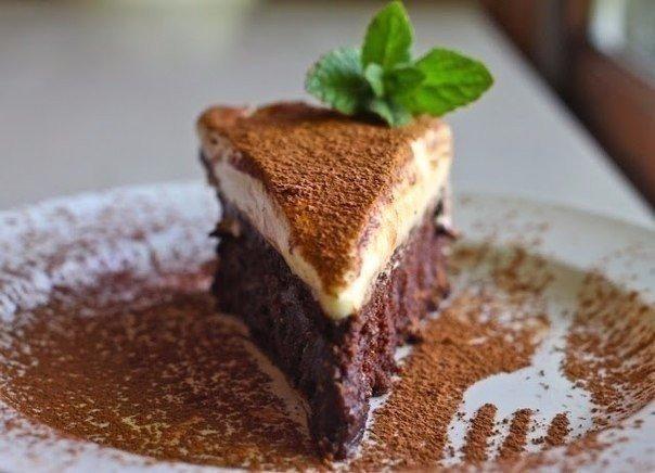 Шикарный трюфельный торт с муссом из белого шоколада
