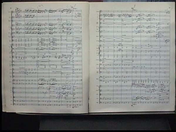 Mahler (Probe)score (fragm.) dir.Ludwqig Janowitsky