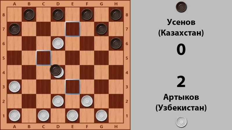 Артыков Усенов Чемпионат Мира по Русским шашкам 1996