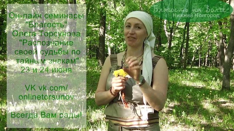 Он-лайн семинар Торсунова. Распознание судьбы по тайным знакам.