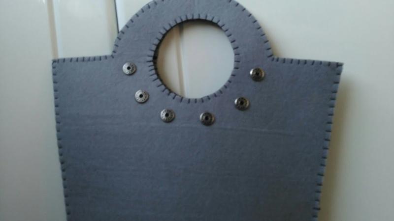 DIY Keçeden Zımbalı Çanta Yaptım Kendin Yap Keçe Çanta Örnekleri @Şükrüyeden Sadece İğne Oyası