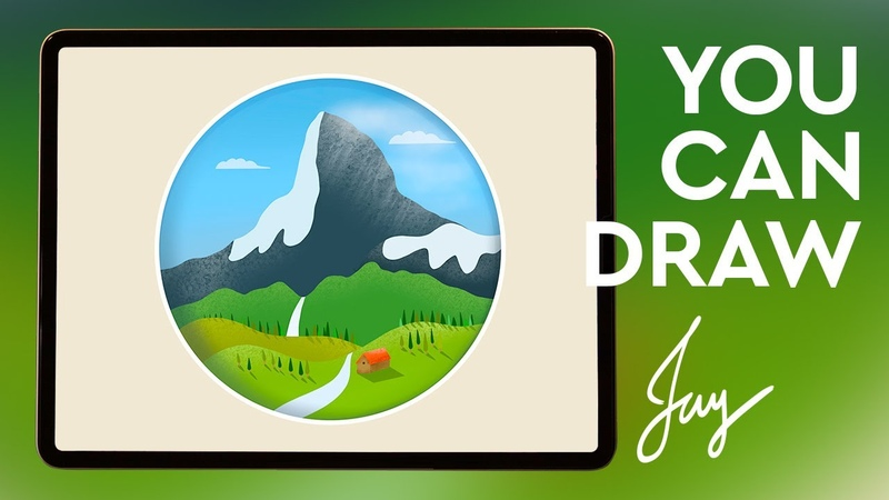 Procreate drawing matterhorn mountain | 프로크리에이트 그림 마테호른 스위스