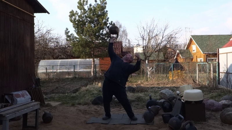65 5 KG 4 POODS KETTLEBELL BOTTOM UP PRESS 2 REPS ЖИМ ГИРИ 65 5 КГ 4 ПУДА НАПОПА 2 РАЗА