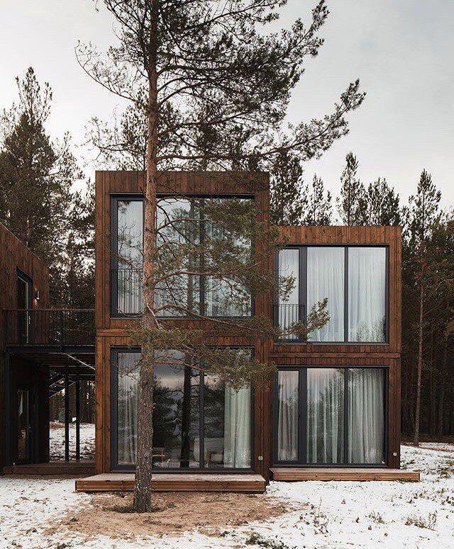 Модульный дизайн-отель «Точка на карте» на берегу Ладожского озера, Россия