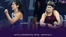 Julia Goerges vs. Eugenie Bouchard 2018 Luxembourg Open Semifinal WTA Highlights