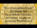 PLATINCOIN Что объединяет нас Встреча без галстуков Отзыва, истории лидеров-почему Platincoin