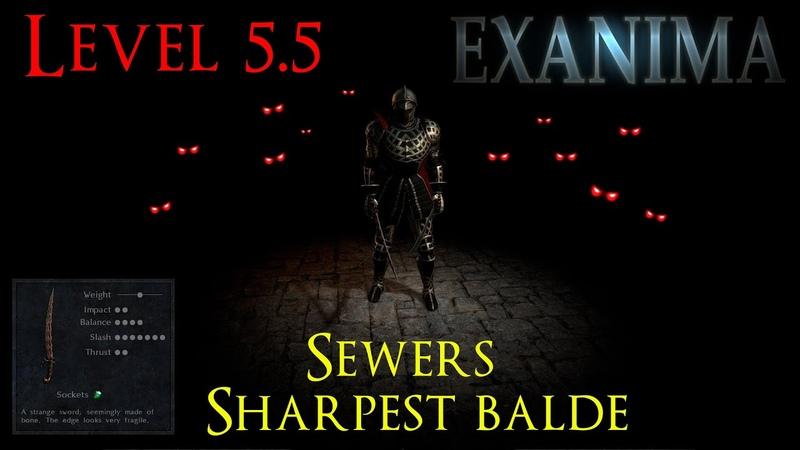 Exanima 0 8 Level 5 5 Walkthrough No commentary The Sewers Bone Scimitar Night Vision Helm