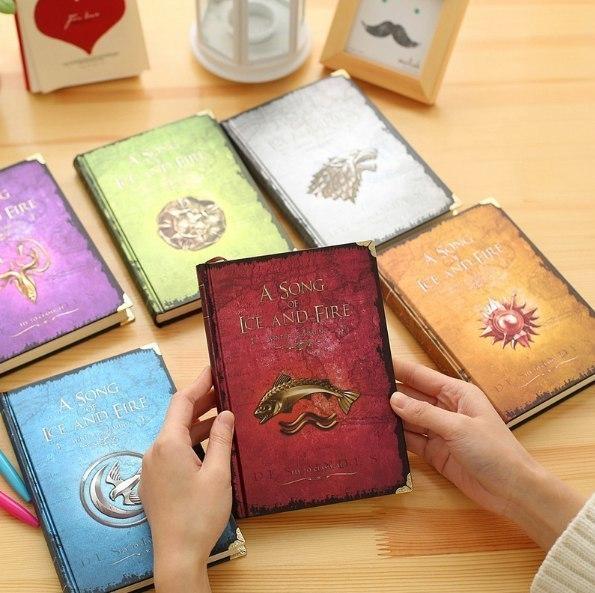 Дневники с гербами великих домов из Игры престолов