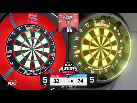 LIVE DARTS Gary Anderson v Nathan Aspinall Low6 Home Tour Final